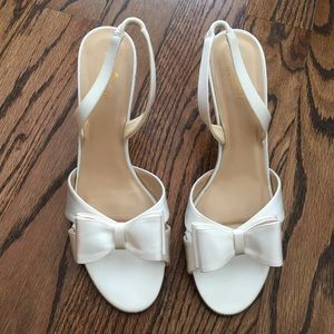 Kate Spade Ivory Micah heels with bow size 10
